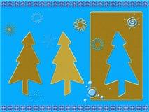 Cartolina di Natale stilizzata illustrazione di stock