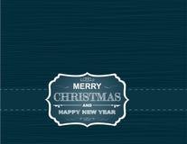 Cartolina di Natale sulla carta da parati con i fiocchi di neve e le curve Immagine Stock