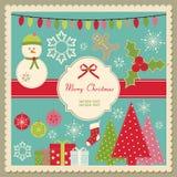 Cartolina di Natale sveglia illustrazione di stock