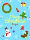Cartolina di Natale sveglia Fotografie Stock