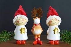 Cartolina di Natale sveglia Fotografia Stock