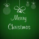 Cartolina di Natale verde Fotografia Stock Libera da Diritti