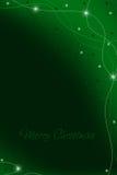 Cartolina di Natale verde Immagini Stock