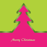 Cartolina di Natale verde e dentellare Illustrazione di Stock