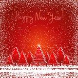 Cartolina di Natale, vettore Fotografie Stock