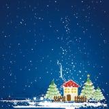 Cartolina di Natale, vettore Fotografia Stock