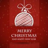 Cartolina di Natale vietata rossa 2 Immagini Stock Libere da Diritti