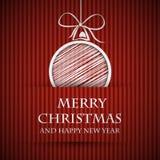 Cartolina di Natale vietata rossa Fotografia Stock Libera da Diritti