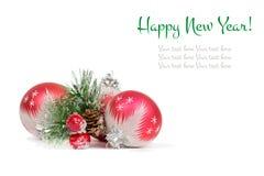 Cartolina di nuovo anno felice Immagini Stock Libere da Diritti