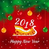 Cartolina di nuovo anno felice Immagini Stock