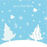 Cartolina di nuovo anno felice illustrazione vettoriale