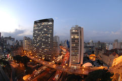 Cartolina di São Paulo Immagine Stock Libera da Diritti