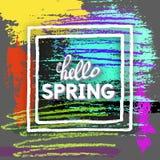 Cartolina di saluto della primavera Immagine Stock Libera da Diritti