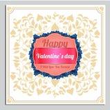 Cartolina di vettore di giorno di biglietti di S. Valentino, illustrazioni ed elementi di tipografia Immagini Stock Libere da Diritti