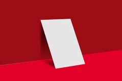 Cartolina e copertura del modello Immagine Stock