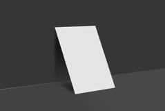 Cartolina e copertura del modello Fotografia Stock