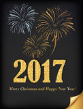 Cartolina elegante 2017 di affari per il Natale ed il nuovo anno Fotografia Stock Libera da Diritti