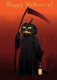 Cartolina felice di Halloween Fotografie Stock Libere da Diritti