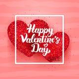 Cartolina felice di vendita di giorno di biglietti di S. Valentino Fotografie Stock