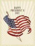 Cartolina felice di vettore di giorno di presidenti abbozzo Fotografie Stock