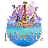 Cartolina hawaiana royalty illustrazione gratis