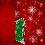 Cartolina orizzontale dell'albero di Natale Fotografie Stock
