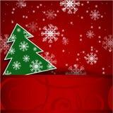 Cartolina orizzontale dell'albero di Natale Fotografia Stock Libera da Diritti