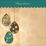 Cartolina: Pasqua felice. Uova di Pasqua Immagini Stock Libere da Diritti