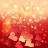 Cartolina per il San Valentino felice. illustrazione vettoriale