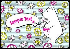Cartolina poco orso Immagini Stock