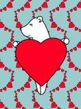 Cartolina poco orso Immagini Stock Libere da Diritti