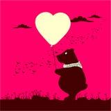 Cartolina poco orso Immagine Stock