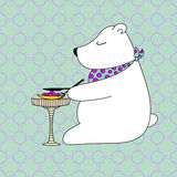 Cartolina poco orso Fotografia Stock Libera da Diritti