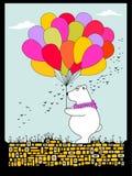 Cartolina poco orso Fotografia Stock