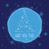 Cartolina quadrata del nuovo anno Immagine Stock