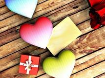 Cartolina romantica per le congratulazioni immagini stock libere da diritti