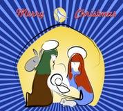 Cartolina - saluti di Natale Fotografia Stock Libera da Diritti