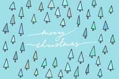 Cartolina semplice di Natale Fotografia Stock Libera da Diritti