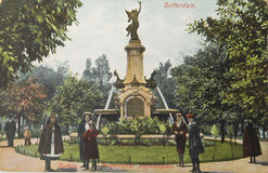 Cartolina storica di Rotterdam in 1907 Immagine Stock