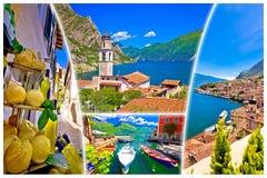 Cartolina turistica della destinazione del collage di polizia del sul di Limone Immagini Stock Libere da Diritti