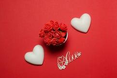 Cartoline al giorno del ` s del biglietto di S. Valentino della st Fotografie Stock Libere da Diritti