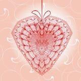 Cartoline d'auguri con forma del cuore Immagini Stock Libere da Diritti
