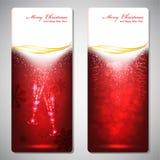 Cartoline d'auguri con gli archi di colore rosso e lo spazio della copia. Fotografia Stock