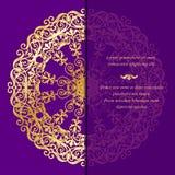 Cartoline d'auguri d'annata nello stile orientale Immagini Stock Libere da Diritti