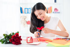 Cartoline d'auguri del biglietto di S. Valentino Immagini Stock Libere da Diritti