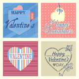 Cartoline d'auguri del biglietto di S. Valentino messe Immagine Stock