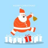 Cartoline d'auguri del nuovo anno e di Natale royalty illustrazione gratis