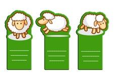 Cartoline d'auguri delle pecore Fotografia Stock Libera da Diritti