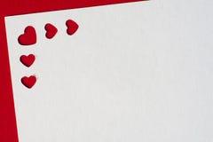 Cartoline d'auguri di giorno del ` s del biglietto di S. Valentino Fotografia Stock