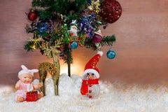 Cartoline d'auguri di Natale e del nuovo anno di festival Fotografia Stock Libera da Diritti